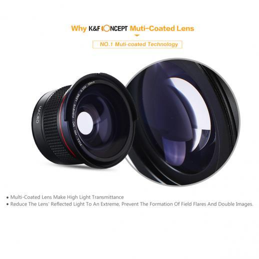 58mm 0.35X HD Fisheye Wide Angle Lens