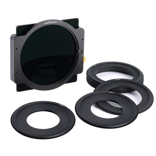 K&F SN25T ND1000 Square Filter 100x100mm + Metal Holder + 8pcs Adapter Rings For DSLR