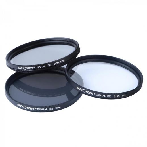 K/&F Concept 58mm UV ND4 CPL Filter Kit Lens Cleaning Pen for Canon Nikon Sony