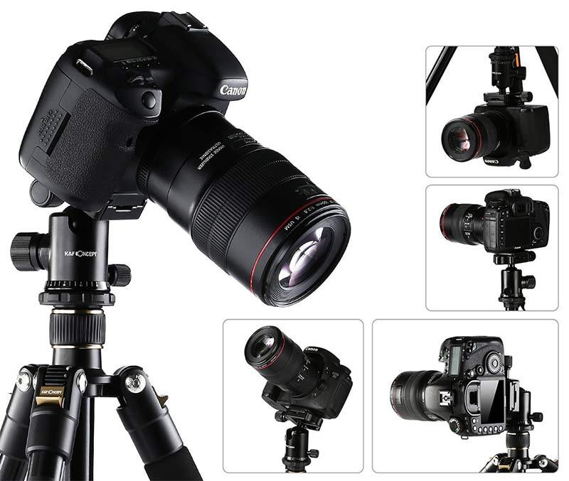 K/&F Concept TM2324 Kamerastativ Reisestativ Fotostativ Kamera Stativ für Canon